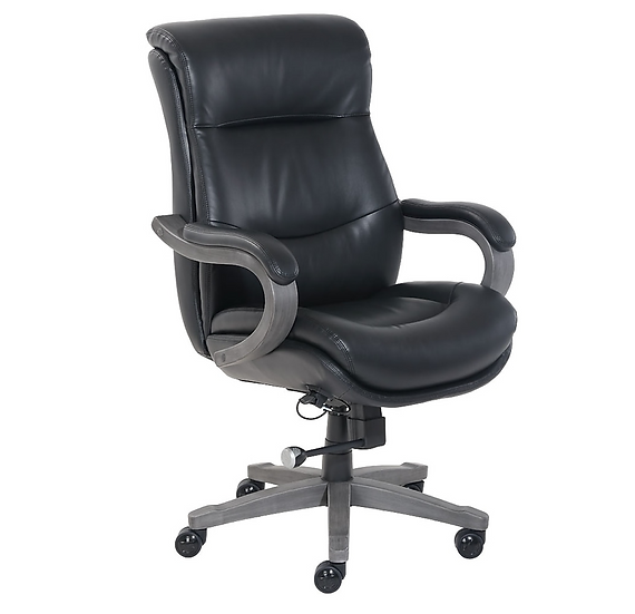 La-Z-Boy Wickingham Leather/Gel-Infused Memory Foam Executive Chair