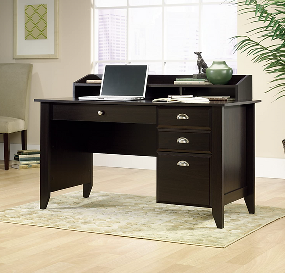 "Sauder Shoal Creek 54""W Home Writing Desk (Jamocha Wood Finish)"