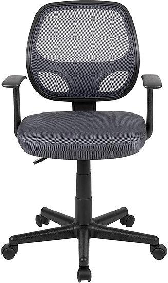 Flash Fundamentals Mid-Back Mesh Swivel Ergonomic Task Office Chair - Gray