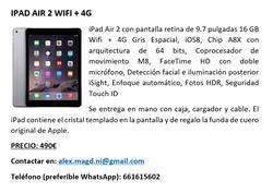 iPad Air 2 16 GB Wifi + 4G