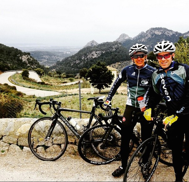 Adam and Marilyn at the top of Col de Soller