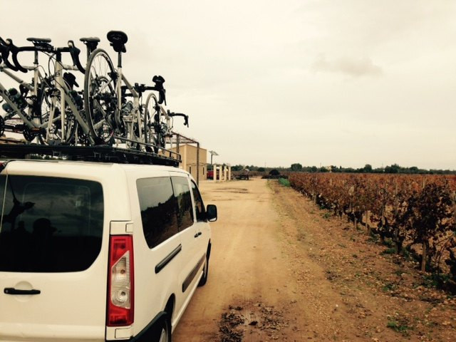 cycling wine mallorca van support.jpg
