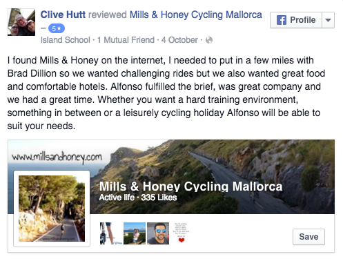 Mills and Honey review on Facebook