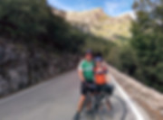 John and kara on their way to Sa Calobra