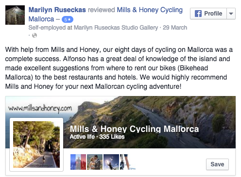 Reviews of Mills and Honey on Facebook