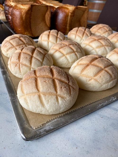 Melon Pan (cookie bread) 2pieces メロンパン2こいり