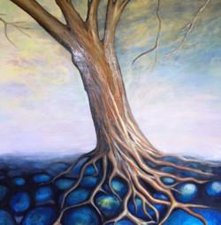 Tree on stones