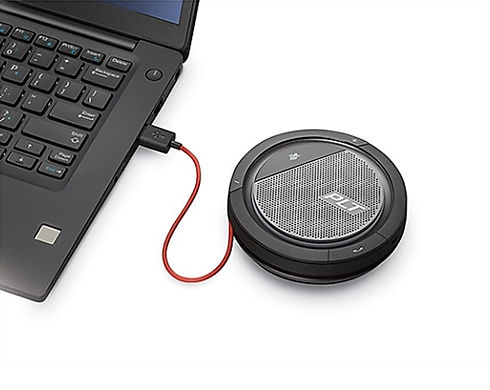 conference phone, remote depo, zoom depo, speaker, conference, legal meeting