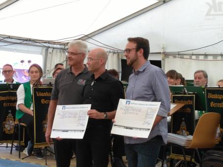 Spendenübergabe der Musikvereinigung Ebensfeld an Kivuko e.V.