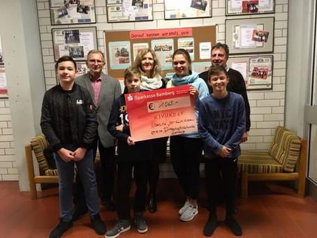Spende der Wirtschaftsschule Bamberg