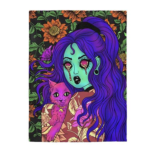 Violet Moon Plush Blanket