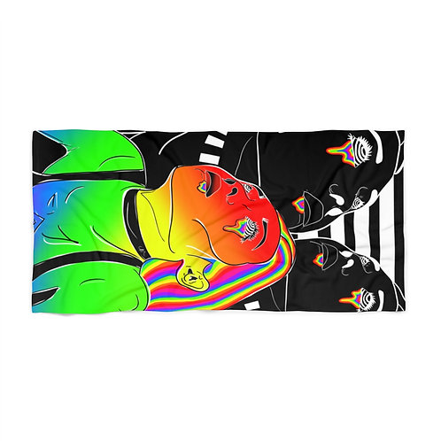 Rainbow Radiation Beach Towel