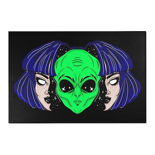 Alien Got Your Tongue? Area Rug