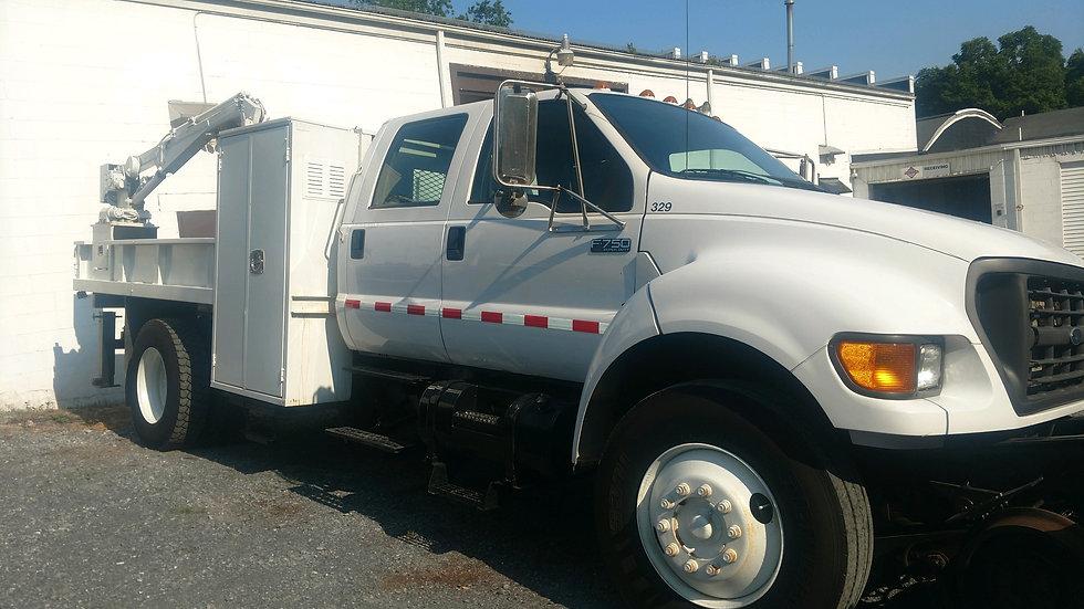 03 Ford Super Duty F-750 Hi Rail Crew Cab Rail Truck