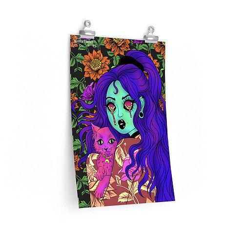 Violet Moon Print
