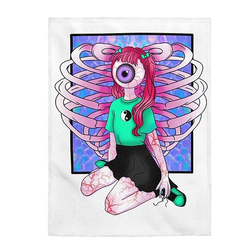 Vanilla Eyes Plush Blanket