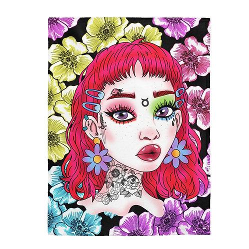 Flower Power Plush Blanket