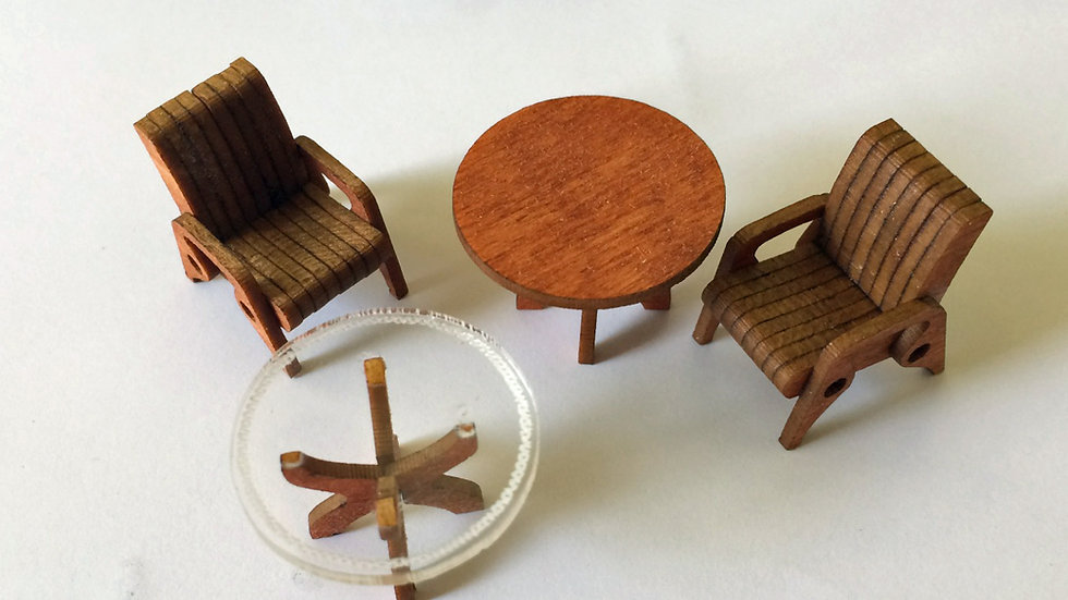 1:48 Scale Patio Furniture Set Kit