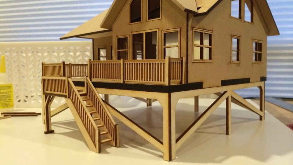 1:48 Scale Beach House Kit