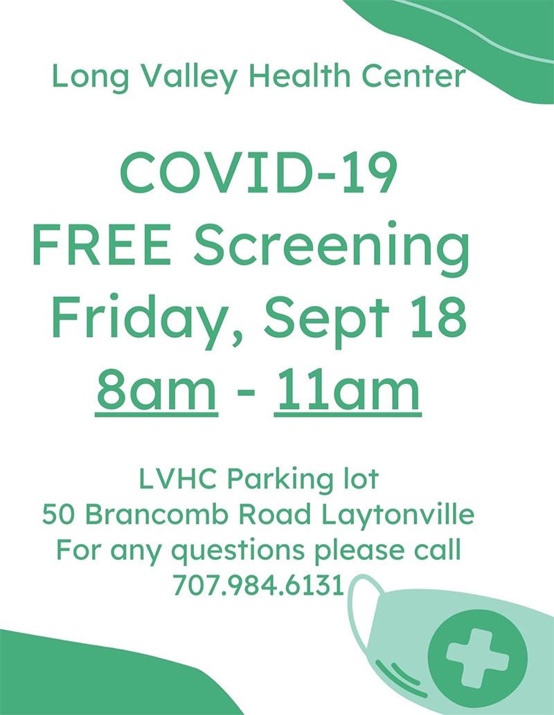 Free COVID-19 Testing In Mendocino County