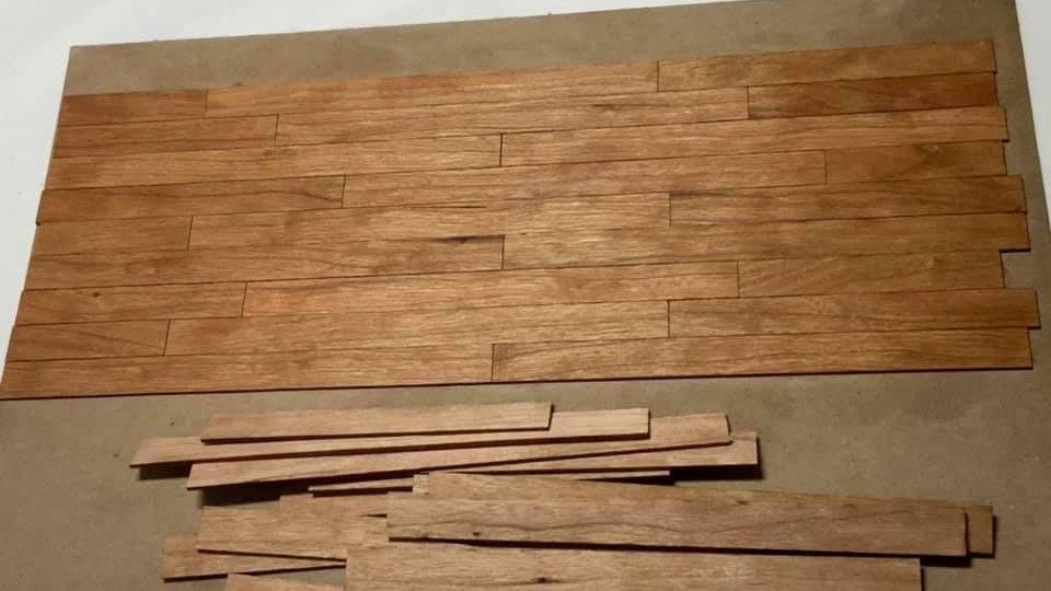 1/12 Scale Narrow Cherry Hardwood Flooring Boards