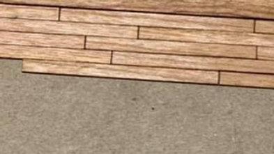 1/48 Scale Cherry Hardwood Flooring Boards