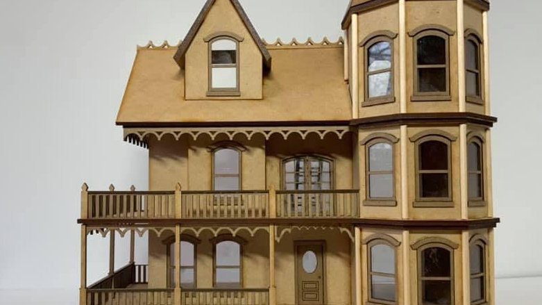 1:48th Scale The Victorian Mansion Kit