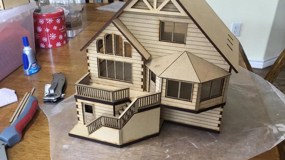 1:48 Woodland Cabin Kit