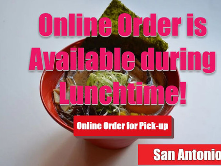 The Online Orders for Pick-Up during Lunchtime!