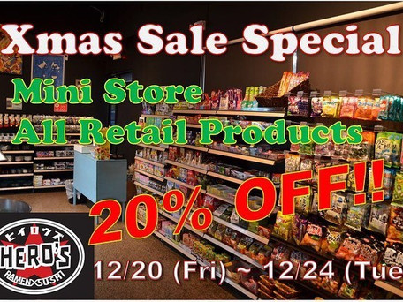 20% Off for store products!