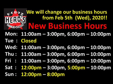 Tonight, we will be open from 6 pm to 10 pm.
