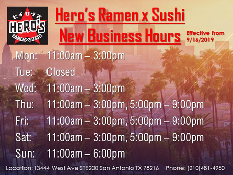 Today, We are open during Dinner Time, 5pm - 9pm!!