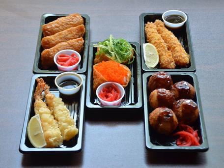 Chirashi Sushi, Nigiri Sushi, Takoyaki, Tempra, Inari to go!!