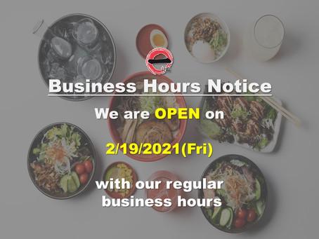 Ramen Bar Ichi is Reopen on 2/19/2021(Fri)