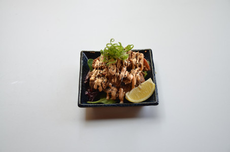 Chicken Karaage with Mentai Mayo Sauce