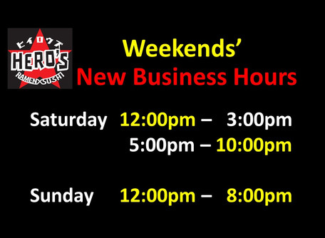 Weekends' Business Hours