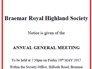 BRHS AGM - Friday 19th May 7.30pm