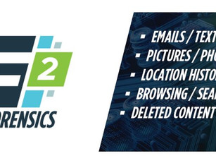 INTRODUCING F2 FORENSICS. ACCURATE & AFFORDABLE DIGITAL FORENSIC PROGRAM NOW SERVICING THE TRI-S
