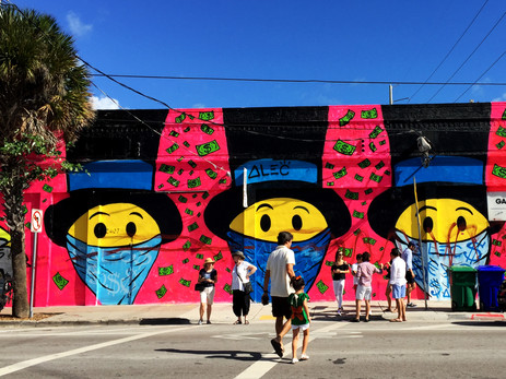 Mural Art at Wynwood arts district Miami.