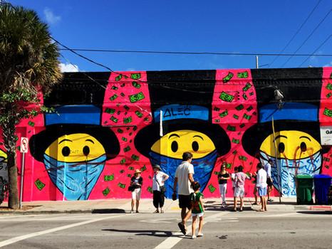 Mural Art at Wynwood arts district Miami.