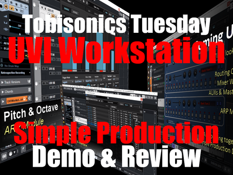 UVI Workstation Simple Production Demo & Review : Routing, Mixer, AUXs & Master Bus, ARP Module