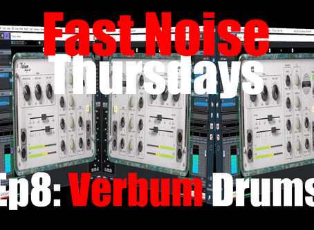 United Plugins Verbum Entropic Hall Reverb on Drums (Fast Noise Thursdays Ep.8)