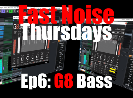Unfiltered Audio G8 Dynamic Gate Cycle on a Bass  (Fast Noise Thursdays Ep6)