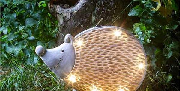 Wood Stone Inlit Hedgehog