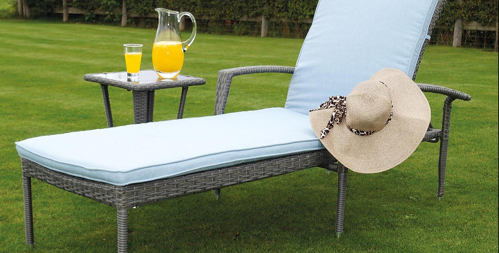 ASHBOURNE LOUNGER AND SIDE TABLE