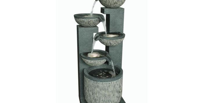5 Bowl Texture Granite Water Feature