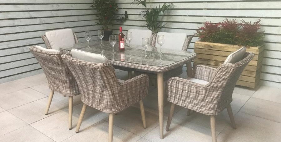 Cotswold 6 seat dining set