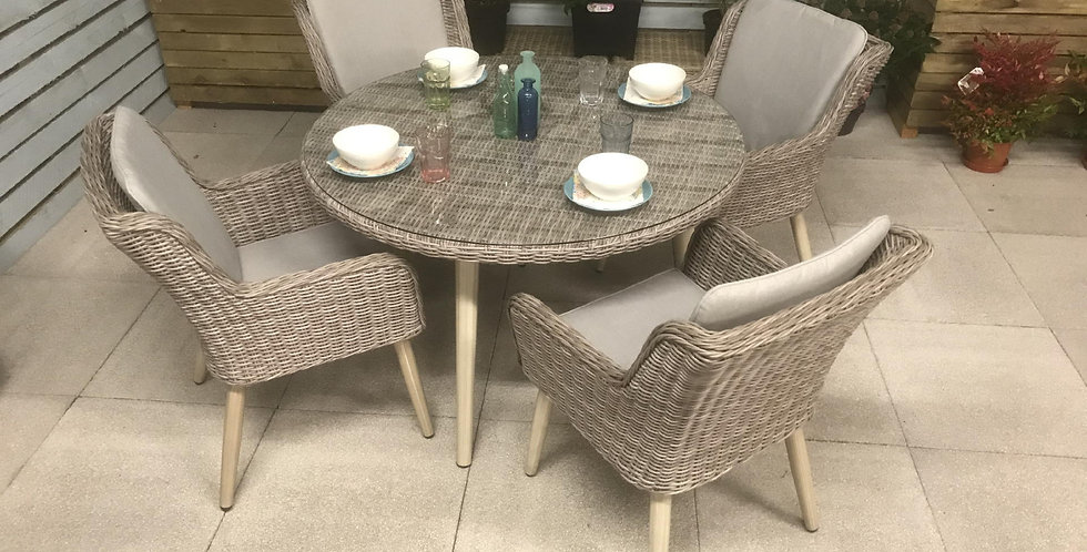 Cotswold 4 seat dining set