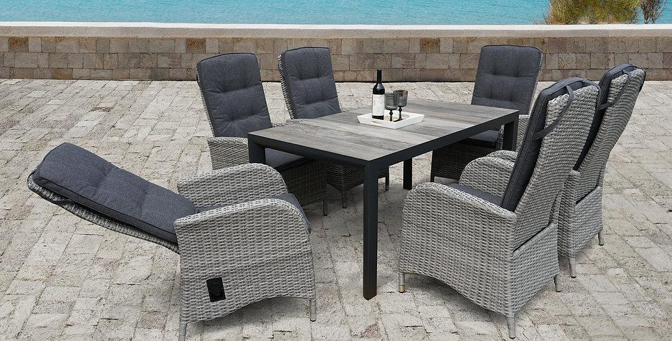 Sherwood extending 8 seat dining set