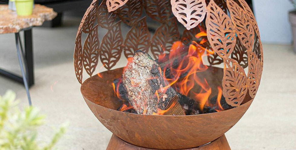 Leaves Fire Bowl
